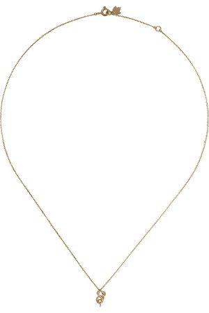 Feidt Paris 18kt yellow Serpent Les Éternels diamond pendant necklace