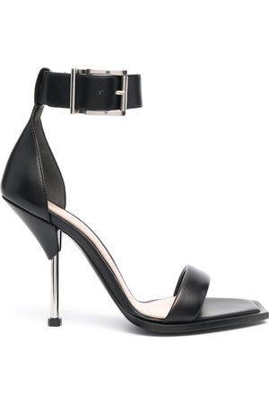 Alexander McQueen Square-toe leather sandals