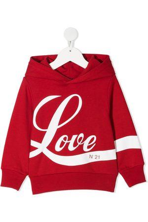 Nº21 Love print hoodie
