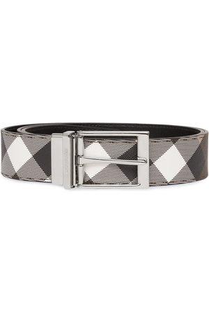Burberry Check-print leather belt