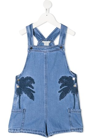 Stella McCartney Palm tree embroidered overalls