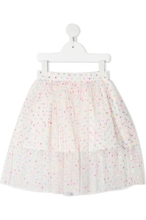 Stella McCartney Embroidered dots tulle skirt