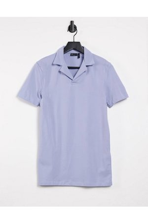 ASOS Muscle fit polo with revere collar in