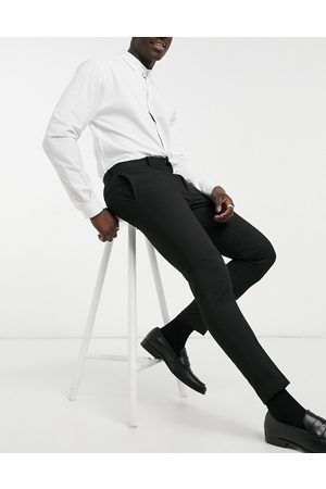 ASOS Wedding super skinny suit trousers in micro texture