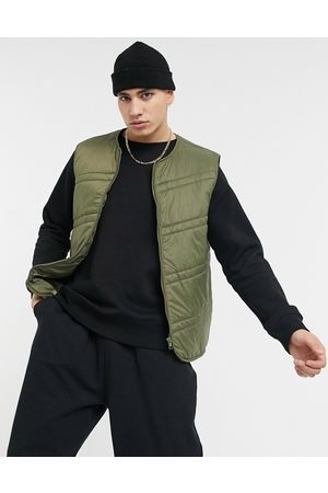 ASOS Quilted gilet in khaki