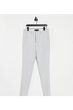 ASOS Tall wedding super skinny suit trousers in ice micro texture