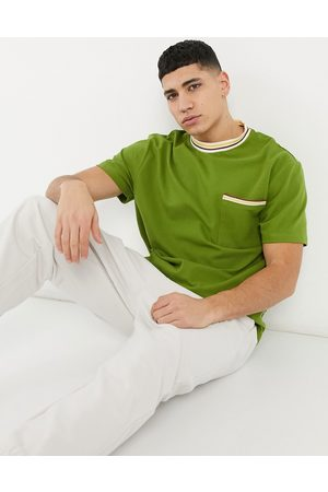 ASOS Relaxed t-shirt with pocket and taping detail in