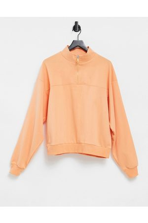ASOS Women Sweatshirts - Sweatshirt with half zip in