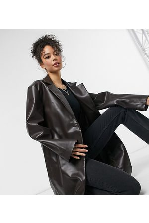 ASOS Women Trench Coats - Tall leather look trench coat in