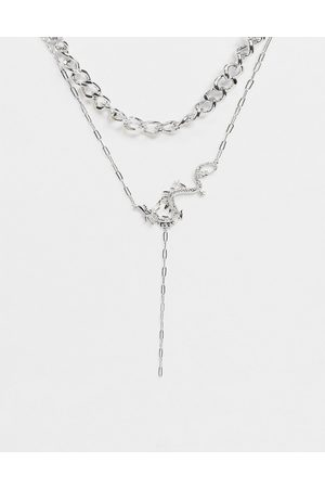 ASOS Women Necklaces - Multirow necklace with dragon lariat in tone