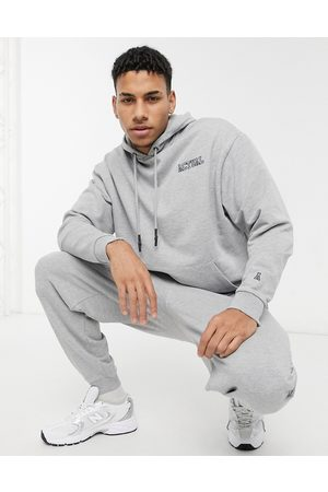 ASOS Actual Men Tracksuits - Oversized tracksuit in marl with embroidery