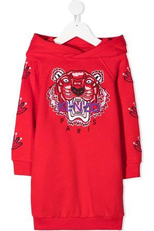 Kenzo Signature Tiger motif sweatshirt dress