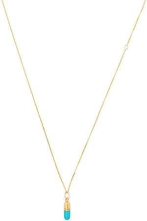 TRUE ROCKS Mini pill pendant necklace