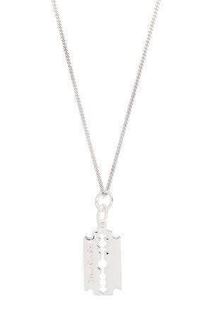 TRUE ROCKS Mini razor pedant necklace