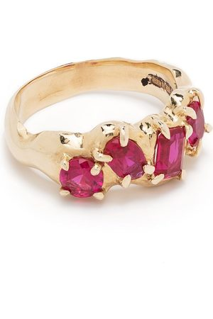 SUSANNAH KING 9kt yellow ruby Vita multi set ring