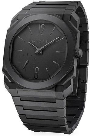 Bvlgari Octo Finissimo Extra-Thin Sandblasted Ceramic Bracelet Watch