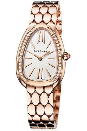 Bvlgari Serpenti Seduttori 18K Rose Gold & Diamond Bracelet Watch