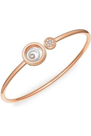 Chopard Happy Spirit 18K White Gold, 18K Rose Gold & Diamond Bangle