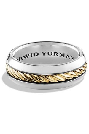 David Yurman Cable Collection 18K Yellow & Sterling Ring