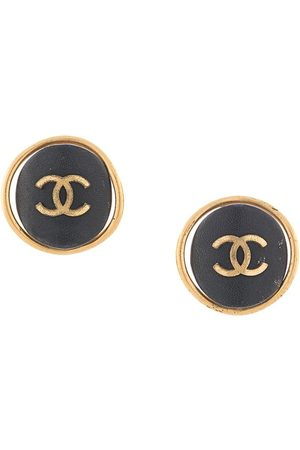 CHANEL 1993 CC button earrings