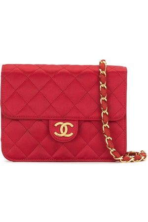 CHANEL 1985-1990 diamond quilted CC shoulder bag