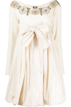 A.N.G.E.L.O. Vintage Cult 1990s oversized bow beaded dress
