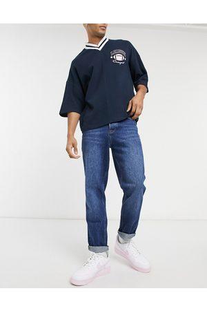 ASOS Straight crop jeans in dark wash