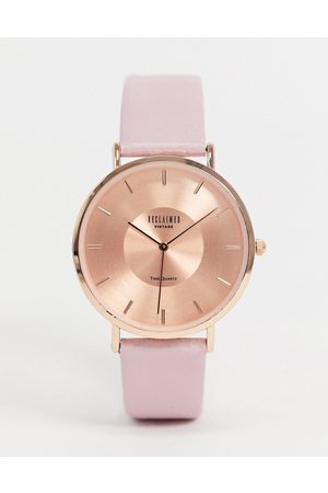 Reclaimed Vintage Men Watches - Inspired leather watch in pink