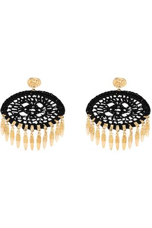 Gas Bijoux Fanfan raffia earrings