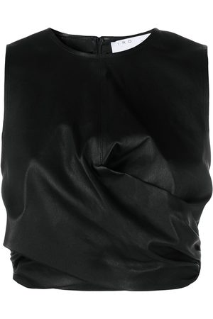 IRO Twisted-detail leather top