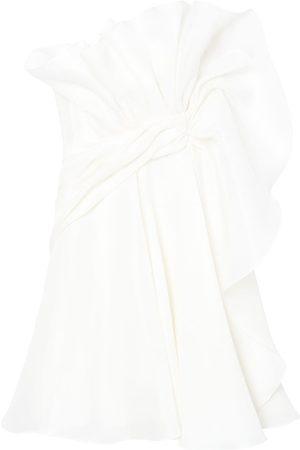 Carolina Herrera Twist-detail silk minidress