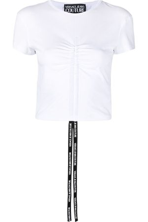 VERSACE Gathered front T-shirt