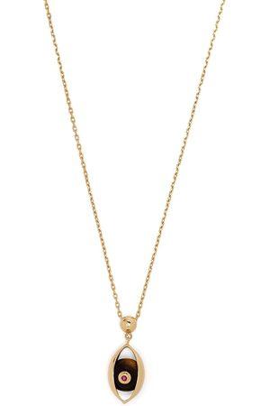 ZEEMOU ZENG 18kt yellow diamond Eye pendant necklace