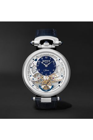 BOVET Monsieur Hand-Wound 43mm 18-Karat White Gold and Leather Watch, Ref. No. AI43018