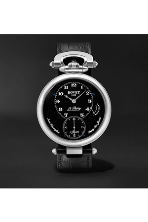 BOVET Men Watches - 19Thirty Fleurier Hand-Wound 42mm Stainless Steel and Leather Watch, Ref. No. NTR0029
