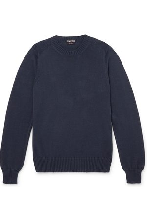 Tom Ford Men Jumpers - Cotton and Silk-Blend Sweater
