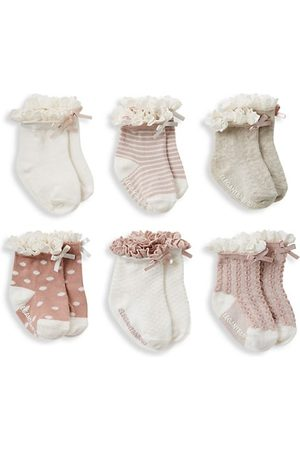 Elegant Baby Baby Socks - Baby Girl's 6-Pack Frill Socks