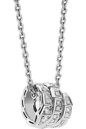 Bvlgari Serpenti Viper 18K & Pavé Diamond Pendant Necklace