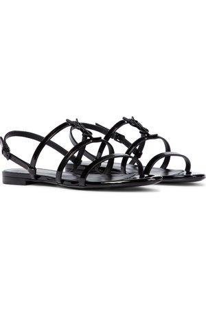 Saint Laurent Women Sandals - Cassandra patent leather sandals
