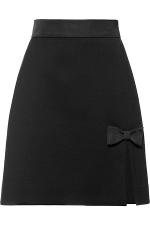 Miu Miu A-line bow detail skirt