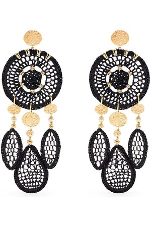 Gas Bijoux Fanfaria raffia earrings