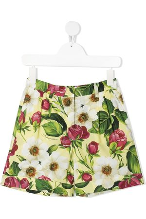 Dolce & Gabbana Pleated floral print shorts