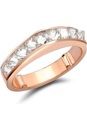 Pragnell 18kt rose gold RockChic diamond peaked ring
