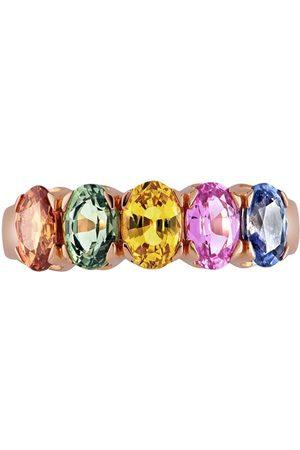 Pragnell 18kt rose gold Rainbow sapphire ring