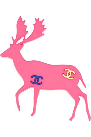 CHANEL Women Brooches - 2001 CC deer brooch