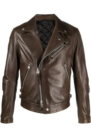 Tom Ford Men Hoodies - Zip-up biker jacket