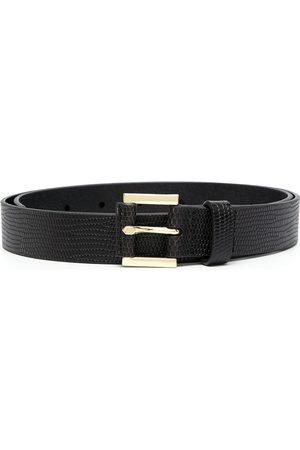 Frame Le Square lizard-skin-effect belt