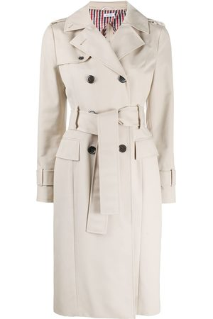 Thom Browne Double-breasted waterproof trench coat