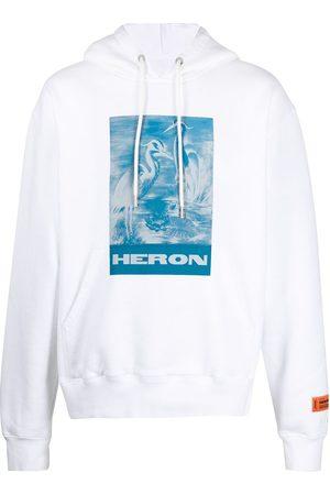 Heron Preston HOODIE HERONS LITHO BLUE