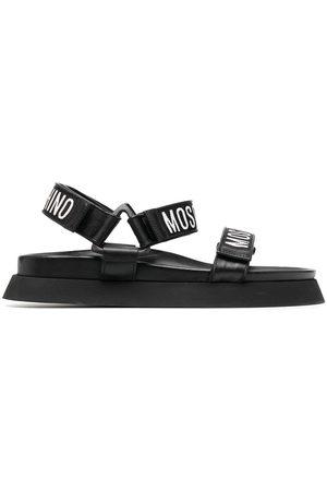 Moschino Logo-tape sandals